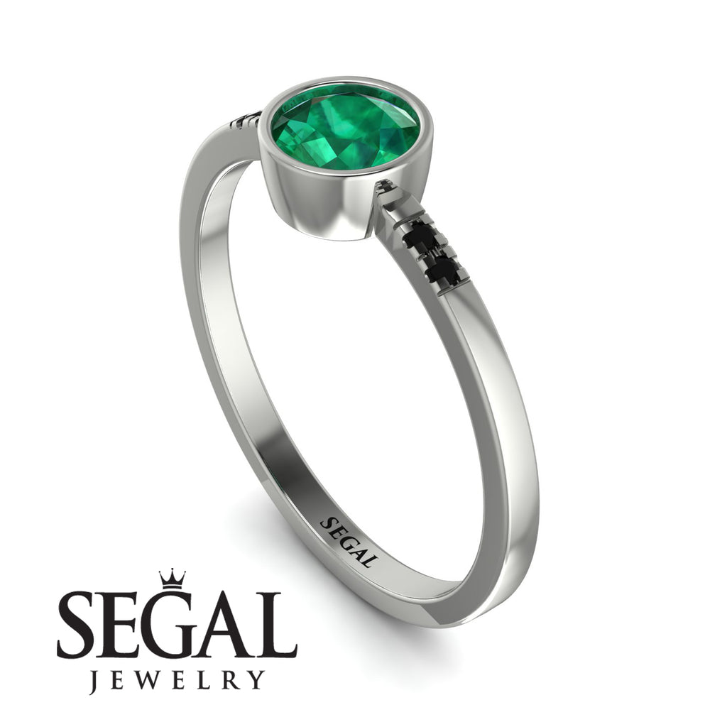 Bezel Minimalist Emerald Ring - Kinsley No. 21