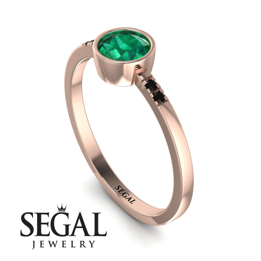 Bezel Minimalist Emerald Ring - Kinsley No. 20