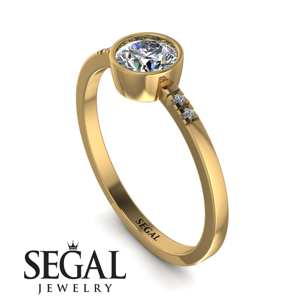 Bezel Minimalist Diamond Ring - Kinsley No. 1