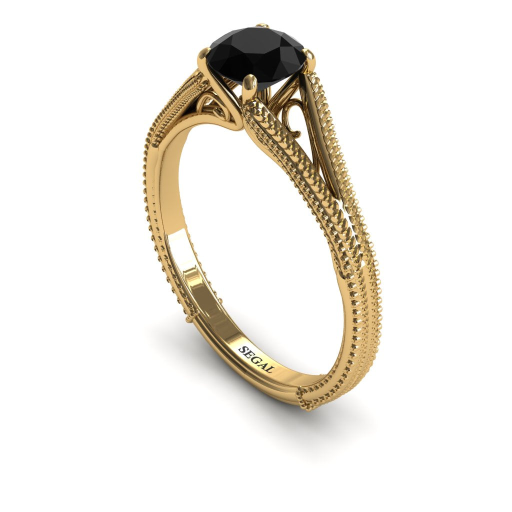 Black diamond vintage ring