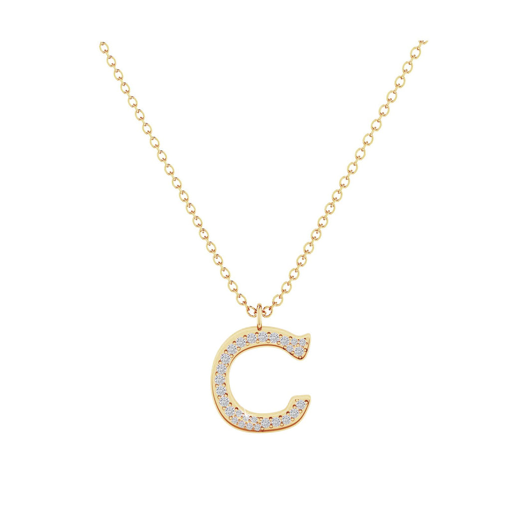 C - Letter Name Necklace Initial Necklace