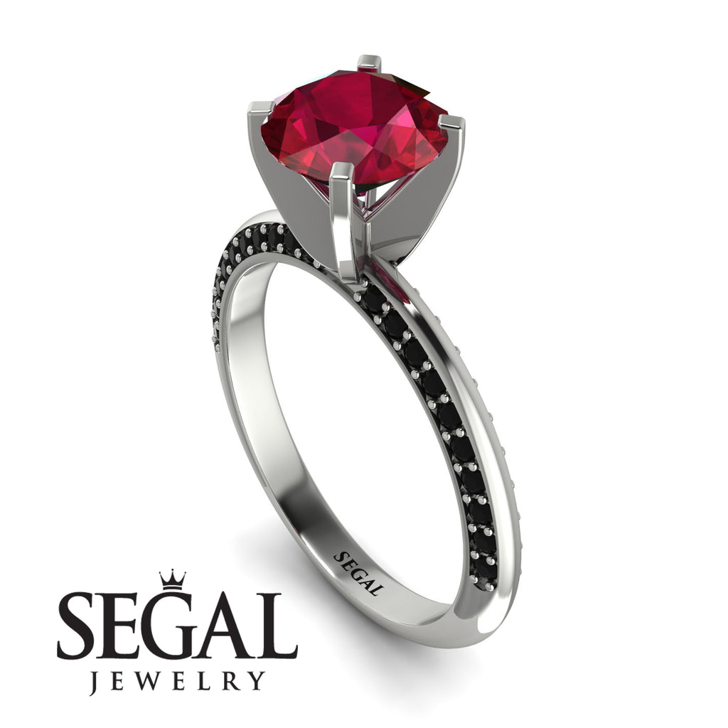 Classic Ruby Ring With A Twist - Leilani No. 42