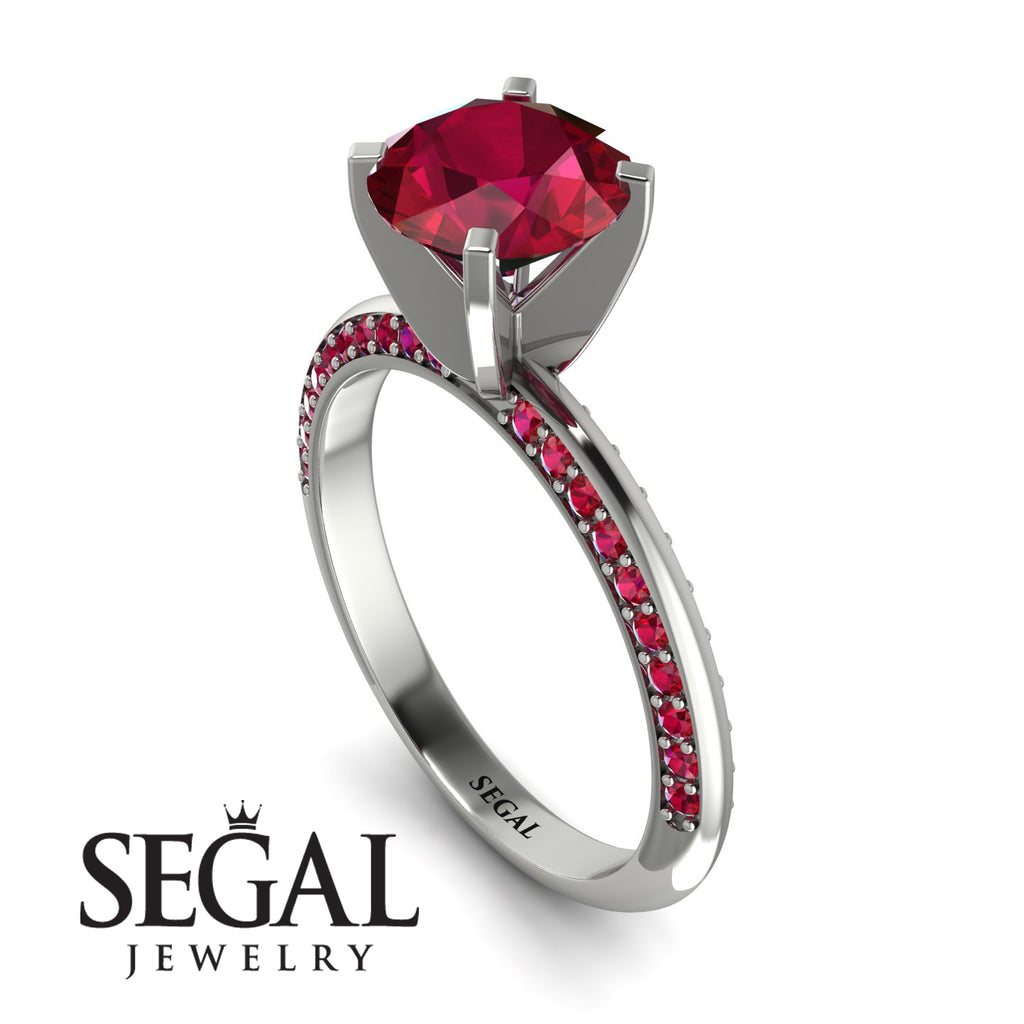 Classic Ruby Ring With A Twist - Leilani No. 57