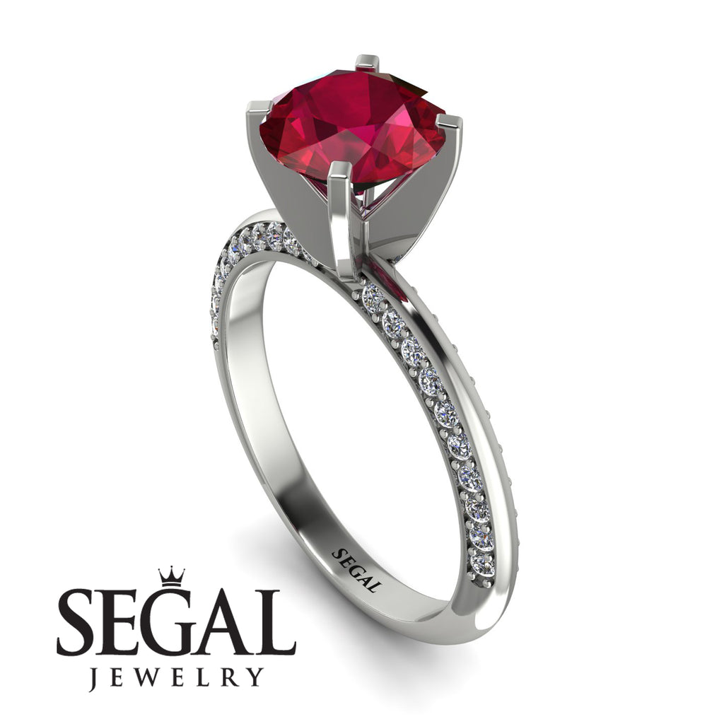 Classic Ruby Ring With A Twist - Leilani No. 12