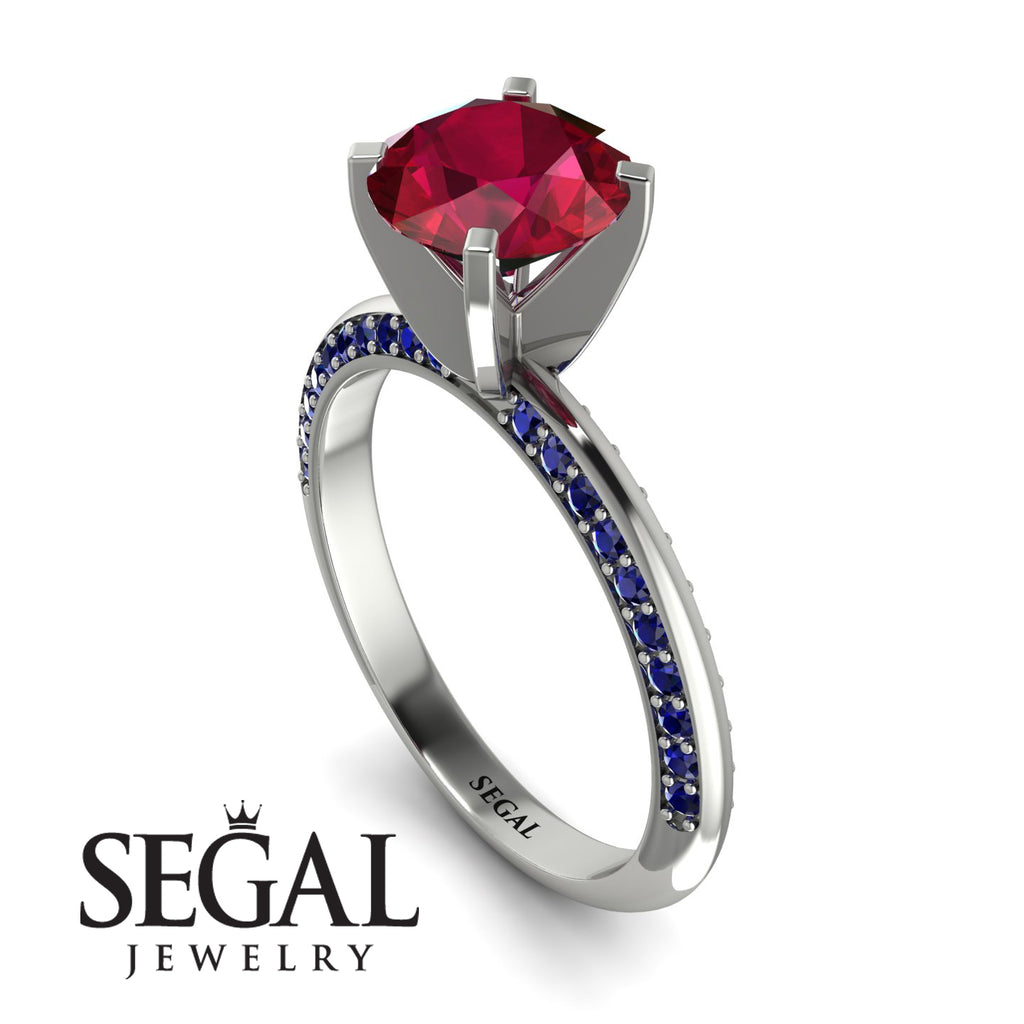 Classic Ruby Ring With A Twist - Leilani No. 72