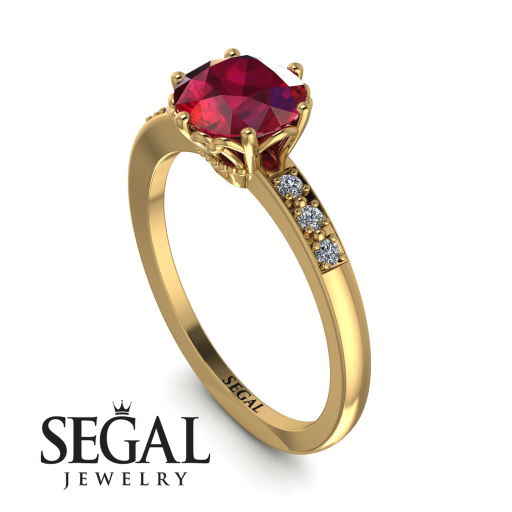 Classic Ruby Vintage Ring - Olivia No. 13