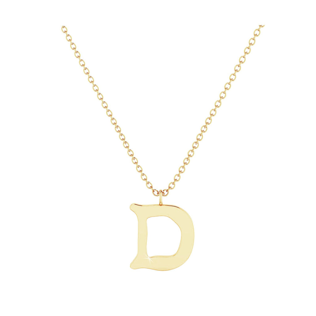 D - Letter Name Necklace Initial Necklace