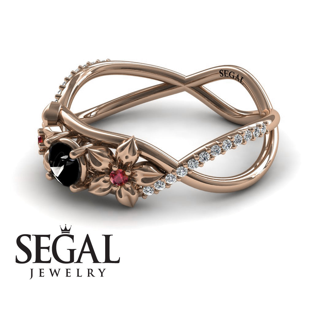 The Swift Flowers Black Diamond Ring- Charlie no. 5