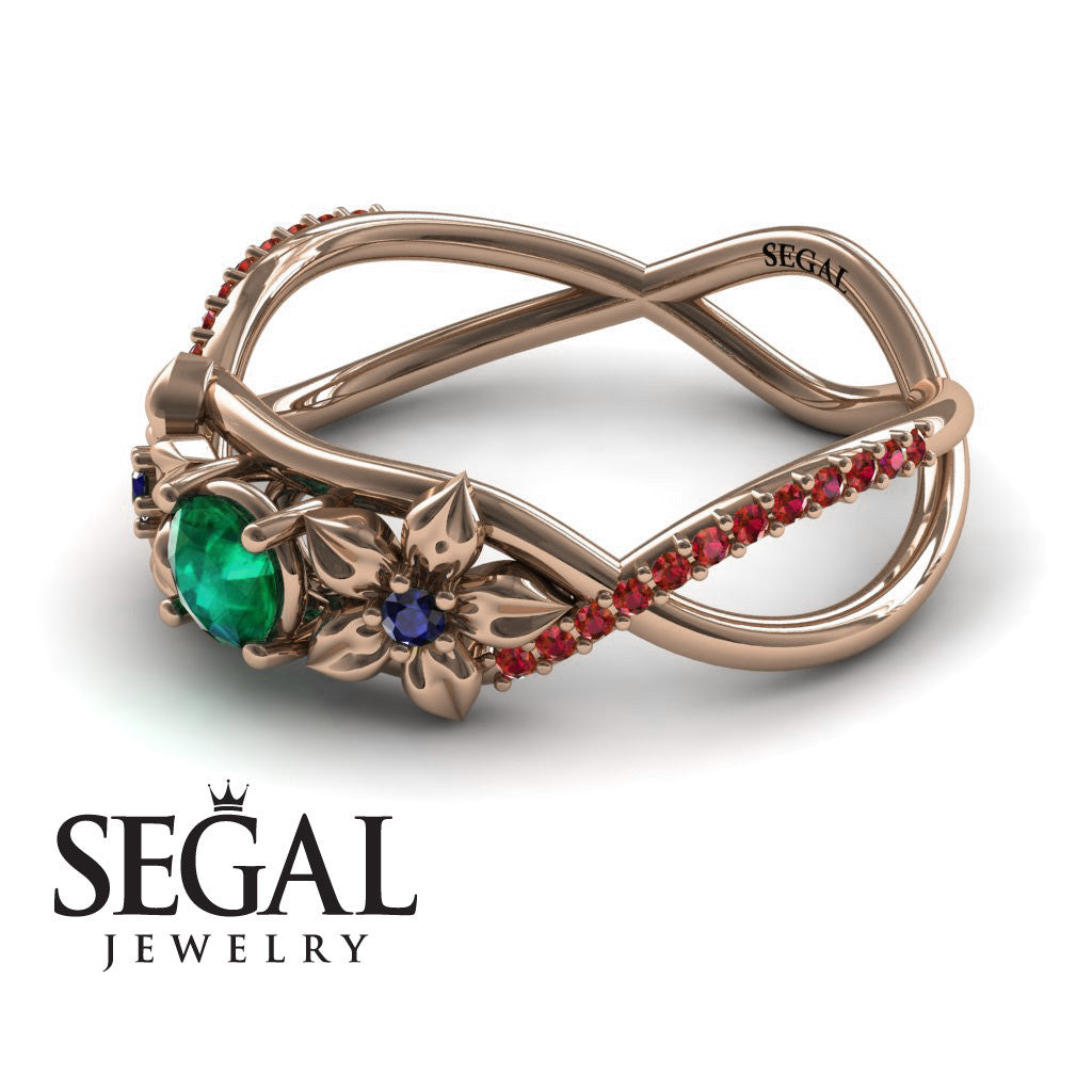 The Swift Flowers Green Emerald Ring- Charlie no. 11