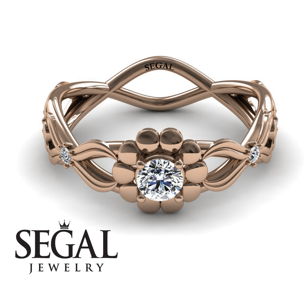 East And West flowers Diamond Ring- Mila no. 2
