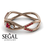 The 3 Stones Dainty Ruby Ring- Mia no. 5