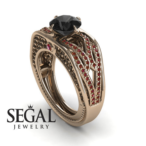 Racer's Cage Black Diamond Ring- Bailey no. 14