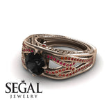 Racer's Cage Black Diamond Ring- Bailey Jewelers 14