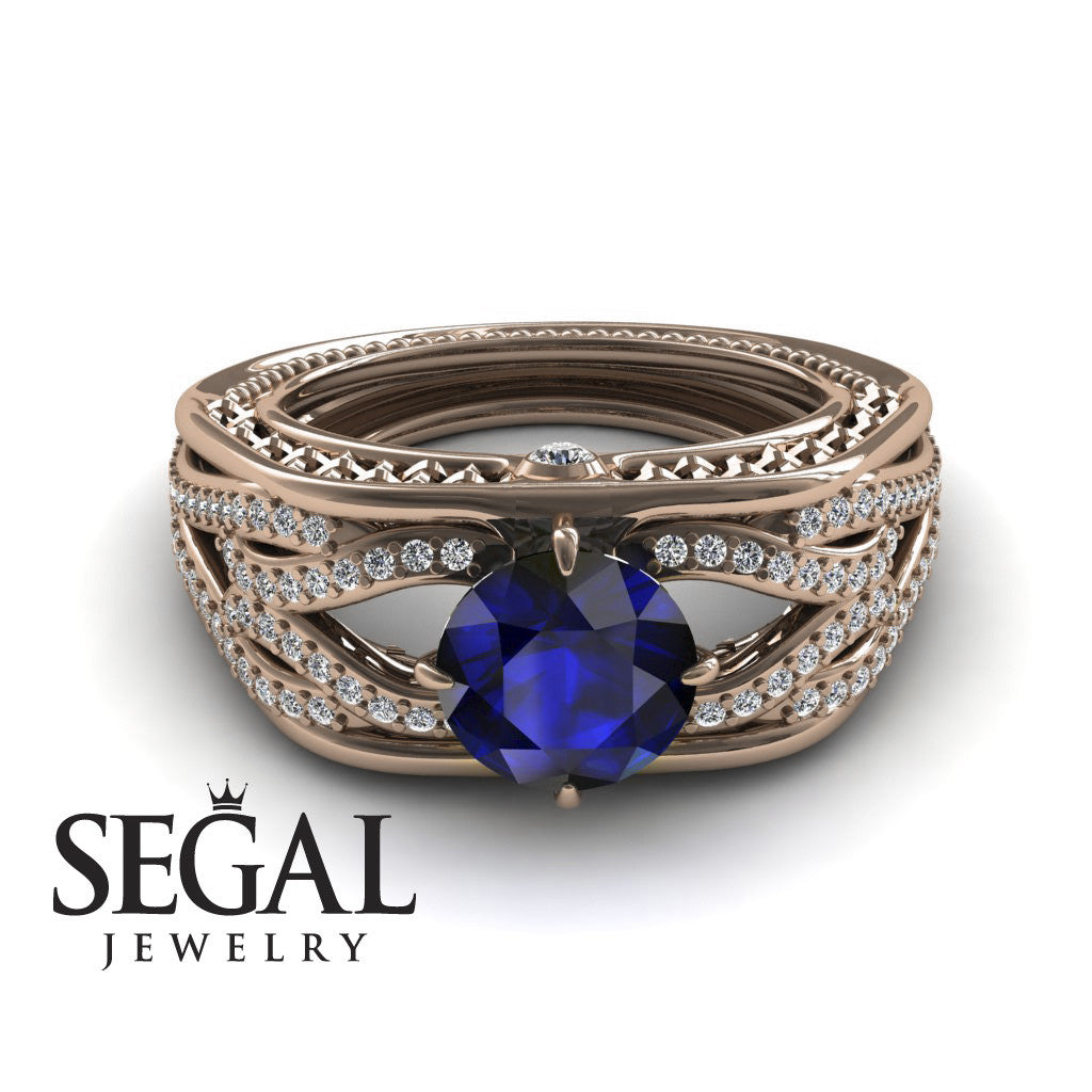 Racer's Cage Blue Sapphire Ring - Bailey no. 5