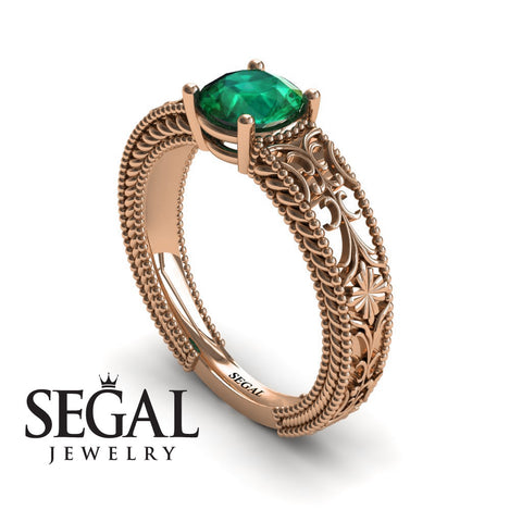The Clear Opera Green Emerald Ring- Brooklyn no. 11