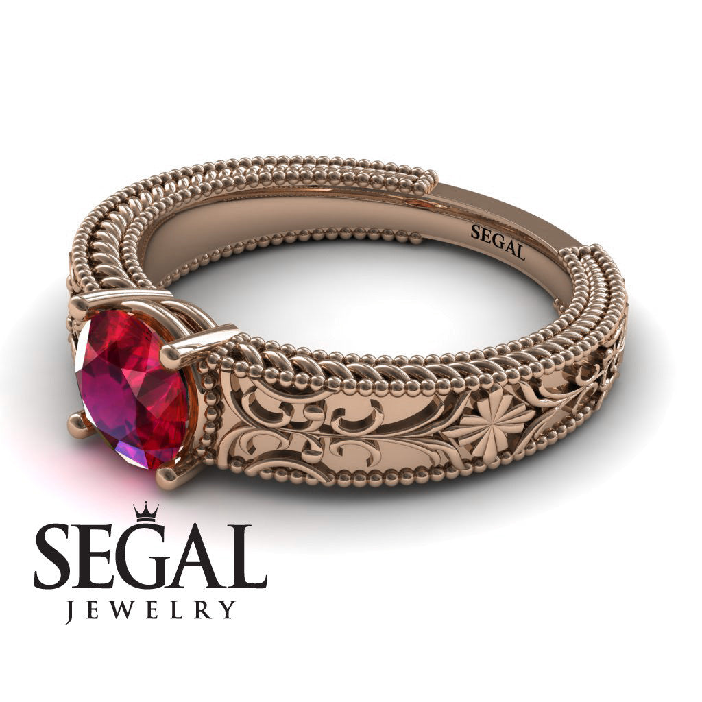 The Clear Opera Ruby Ring- Brooklyn no. 5