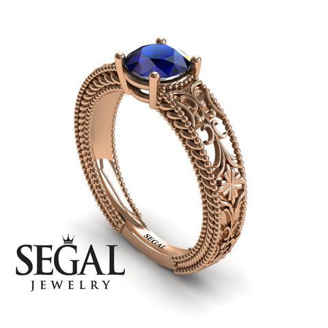 The Clear Opera Blue Sapphire Ring- Brooklyn noº 8