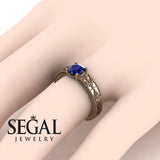 The Clear Opera Blue Sapphire Ring- Brooklyn no. 8