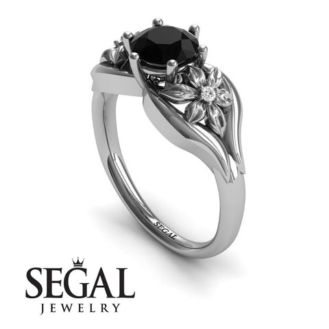 Two Seasons Flower Ring Black Diamond Ring- Bella no. 9