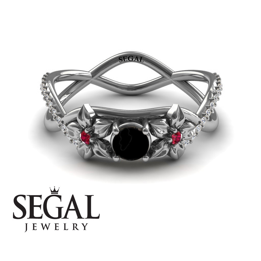 The Swift Flowers Black Diamond Ring- Charlie no. 6