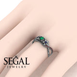 The Swift Flowers Green Emerald Ring- Charlie no. 12