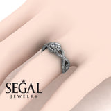 East And West flowers Diamond Ring- Mila no. 3
