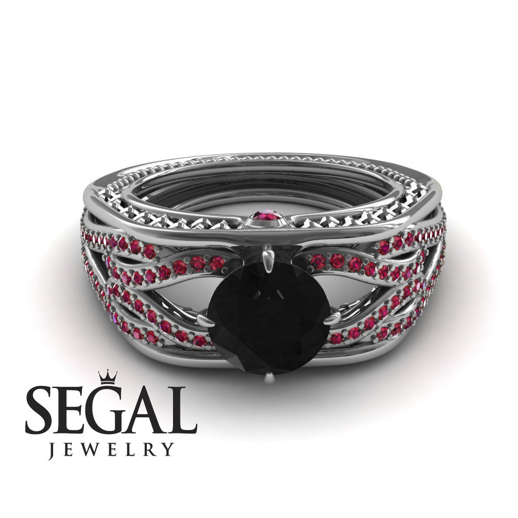 Racer's Cage Black Diamond Ring- Bailey no. 15