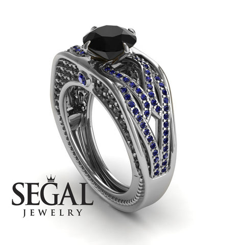 Racer's Cage Black Diamond Ring- Bailey no. 9