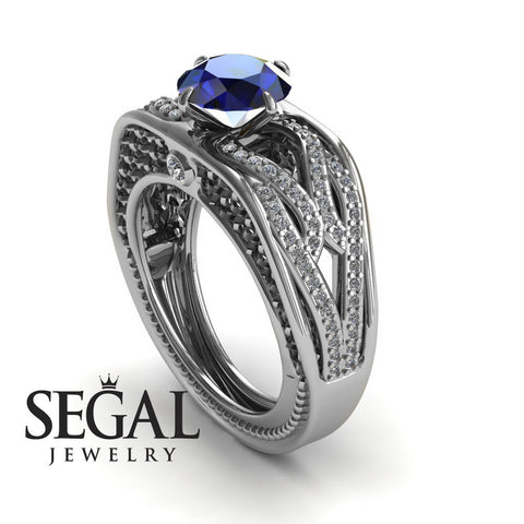 Racer's Cage Blue Sapphire Ring - Bailey no. 6