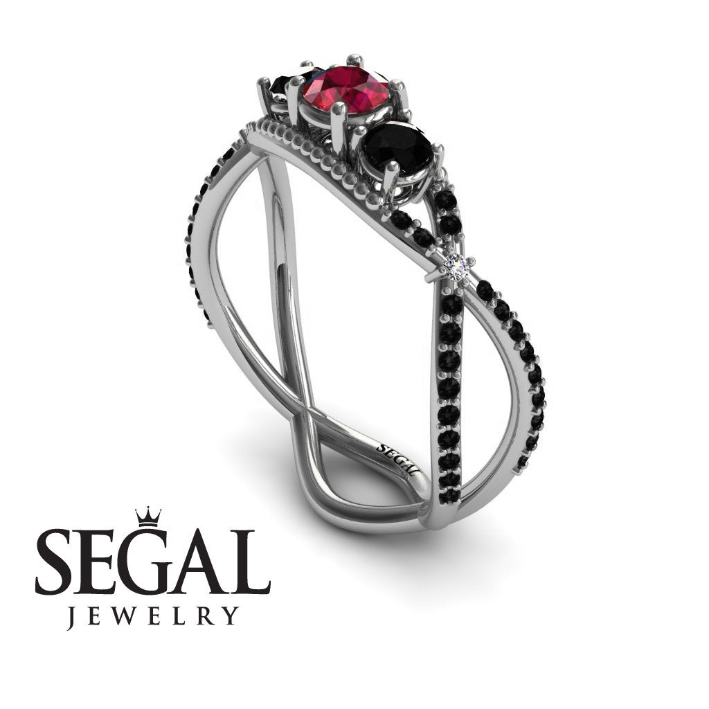 3 Stones Denity Ruby Ring- Natalie no. 9