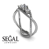 3 Stones Denity Diamond Ring- Natalie no. 3