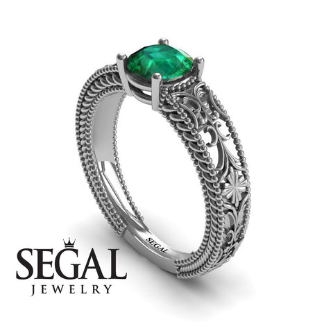 The Clear Opera Green Emerald Ring- Brooklyn no. 12