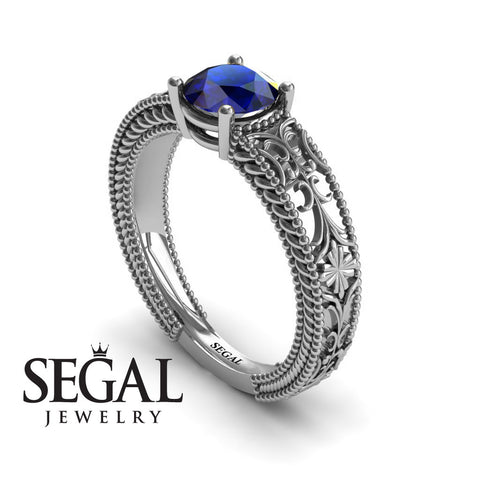 The Clear Opera Blue Sapphire Ring- Brooklyn noº 9