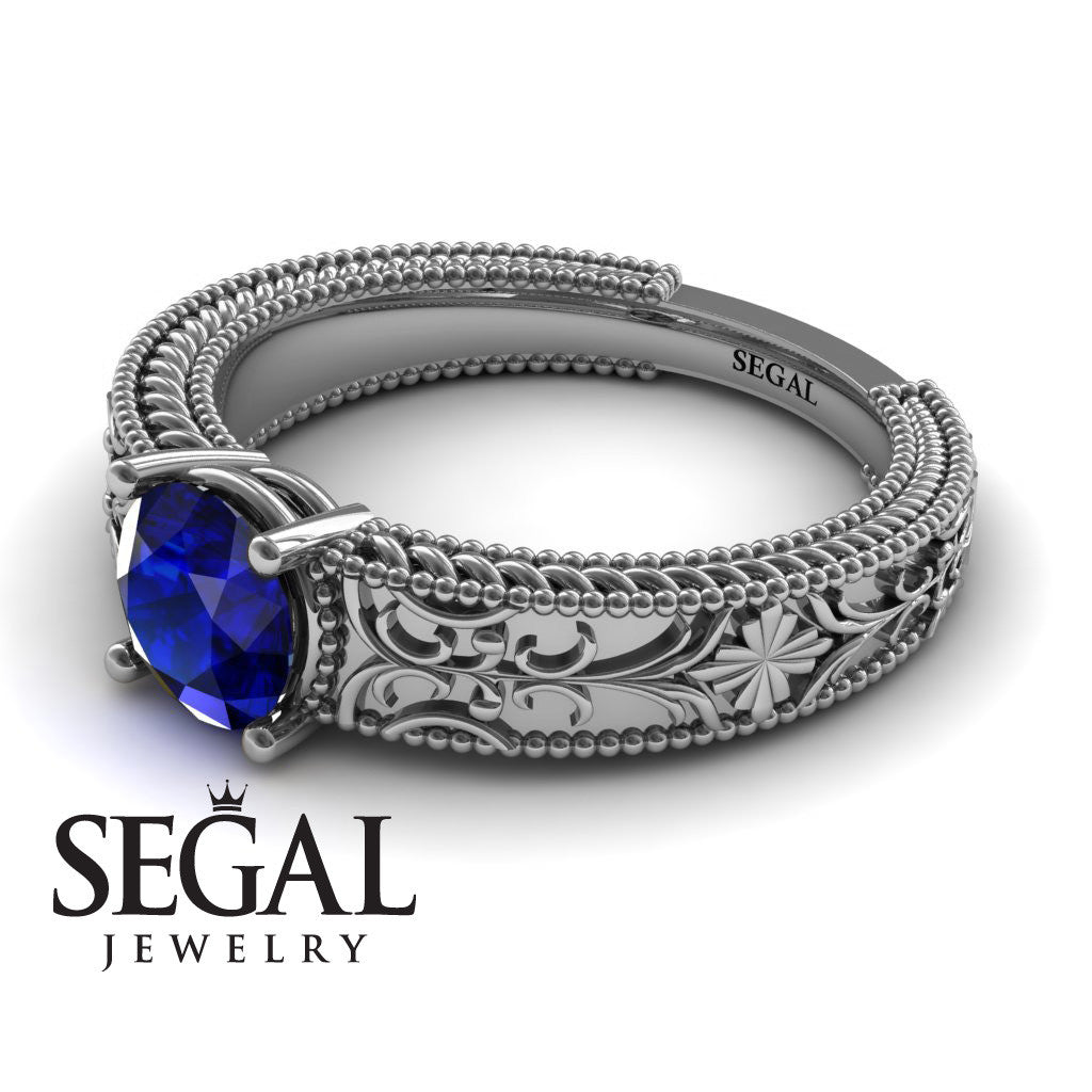 The Clear Opera Blue Sapphire Ring- Brooklyn no. 9