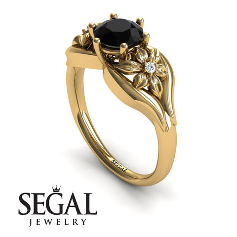 Two Seasons Flower Ring Black Diamond Ring- Bella no. 7