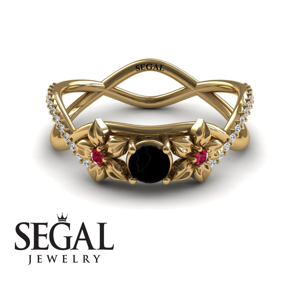 The Swift Flowers Black Diamond Ring- Charlie no. 4
