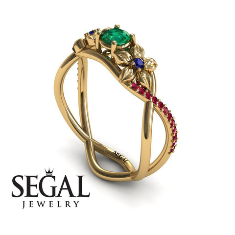 The Swift Flowers Green Emerald Ring- Charlie noº 1 10