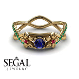 The Swift Flowers Blue Sapphire Ring- Charlie no. 7