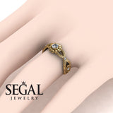 East And West flowers Diamond Ring- Mila no. 1