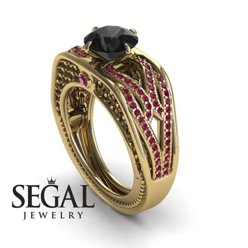 Racer's Cage Black Diamond Ring- Bailey no. 13