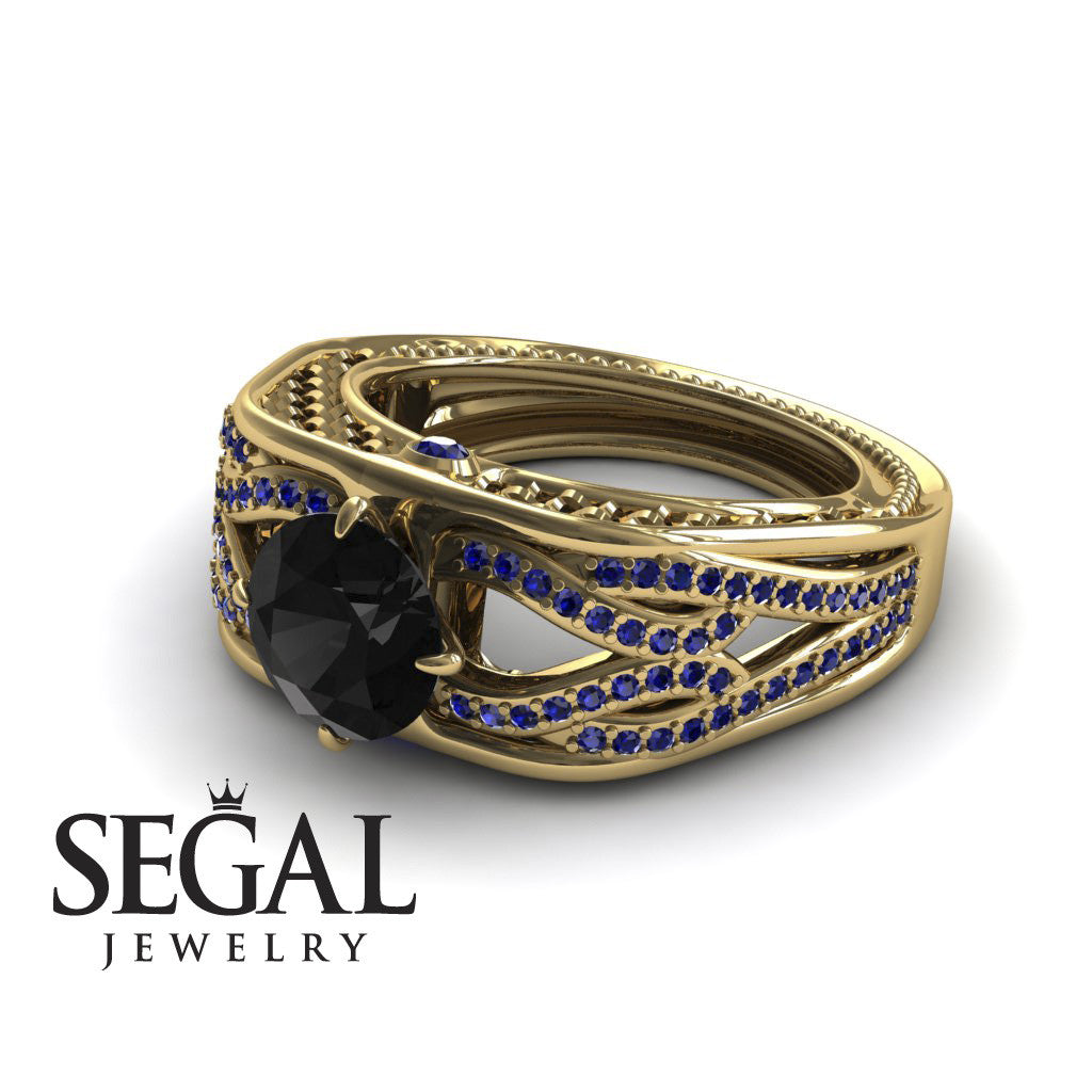 Racer's Cage Black Diamond Ring- Bailey no. 7