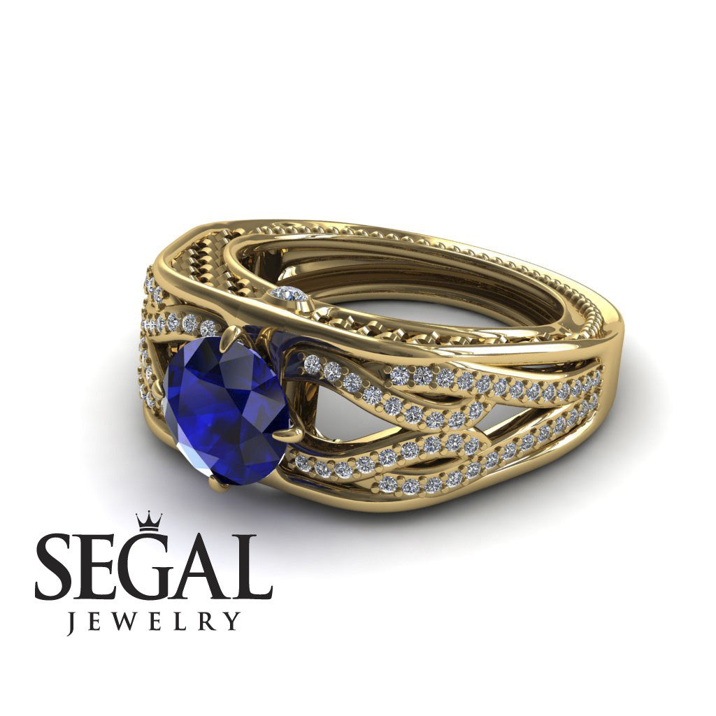 Racer's Cage Blue Sapphire Ring - Bailey no. 4