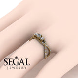 3 Stones Denity Diamond Ring- Natalie no. 1