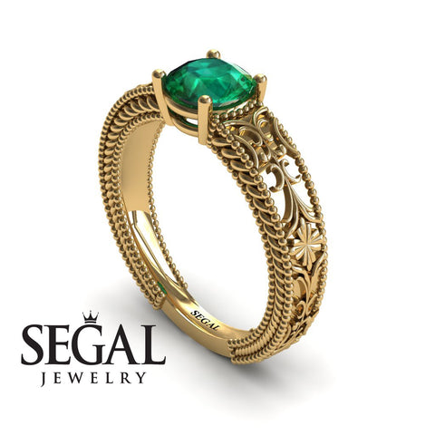 The Clear Opera Green Emerald Ring- Brooklyn no. 10