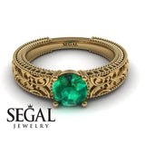 The Clear Opera Green Emerald Engagement Ring- Brooklyn no. 10