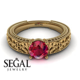 The Clear Opera Ruby Ring- Brooklyn no. 4