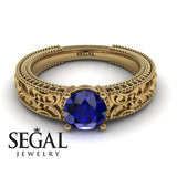 The Clear Opera Blue Sapphire Ring- Brooklyn no. 7