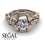 Flower Twig Engagement Ring - Isabelle no. 2