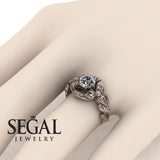 Leaf Flower Engagement Ring - Isabelle no. 2