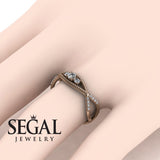 The 3 Stones Dainty Diamond Ring- Mia no. 2